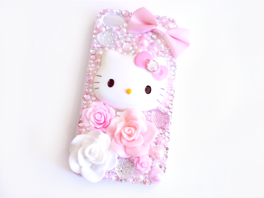 hello kitty iphone case pink and white hello kitty iphone 4 4s by kuppiecake 8737