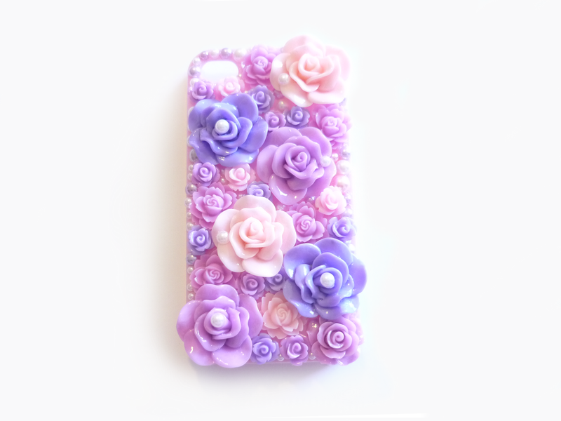 pink iphone 4 case purple and pink garden deco iphone 4 4s by 15864