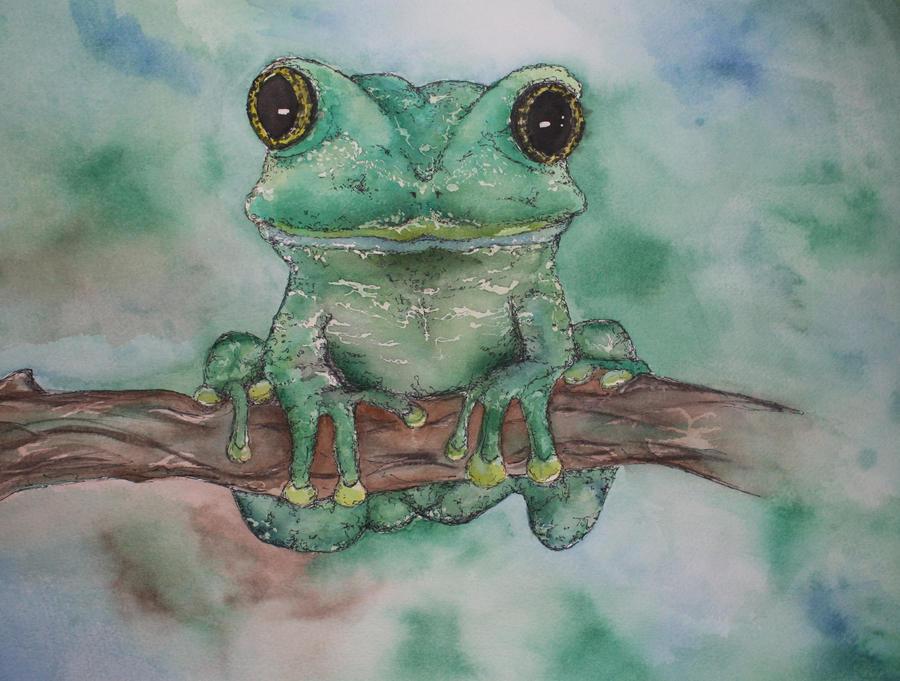 Frog Painting by SpitFire19er on DeviantArt