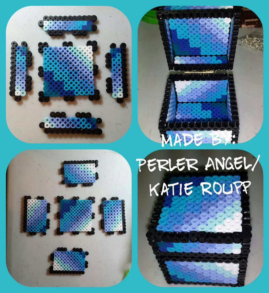 Ombre Colored Minecraft inspired box  by PerlerAngel