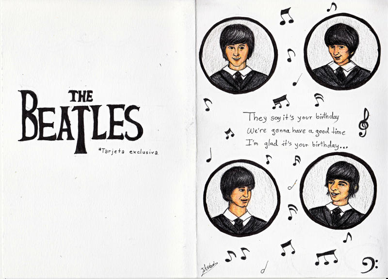 The beatles birthday card by andreth on deviantart the beatles birthday card by andreth bookmarktalkfo Choice Image