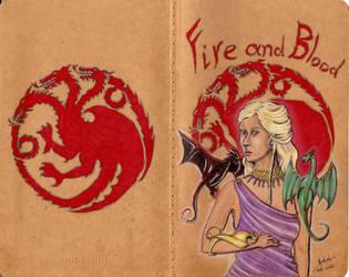 Daenerys Targaryen Moleskine by Andreth