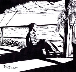Laura on the beach