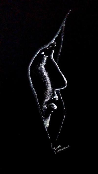 Perfil en negro by Andreth