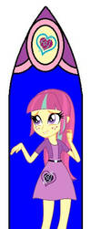 Mlp Eqg Stained Glass Windows Concept 03 by DubstepPonyArtist911