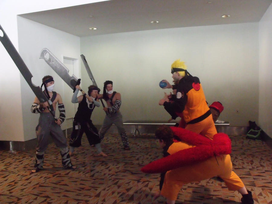 Zabuza vs Naruto Clone Battle2...