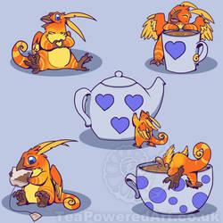 TEA MONSTER by Swirlything