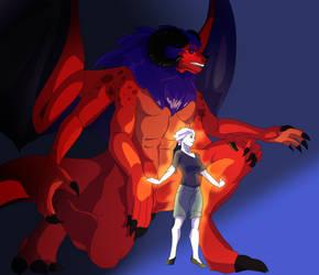 Lydia And Balrog!Amvira by varkarrus