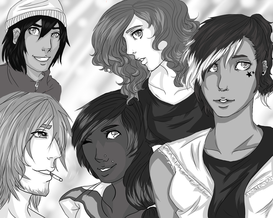 A group of Oc's! by RavensTwilightZone12