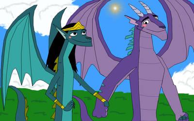 Councilor Andam and Councilor Omina dragons by MajkaShinoda626