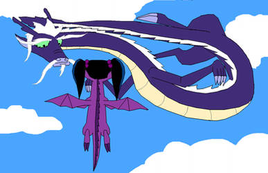Lao Shi and Haley dragons by MajkaShinoda626