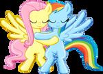 FlutterDash hug -Collab