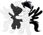 Danny Phantom and Fenton pony hug -Collab
