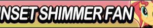 Sunset Shimmer Fan button by MajkaShinoda626