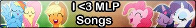 MLP songs -Fan button by MajkaShinoda626