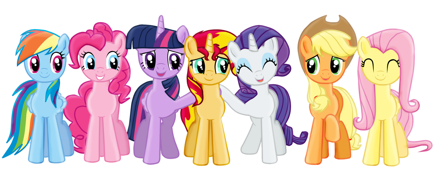 Mane 7 -Welcome among us by SunsetMajka626
