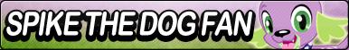 Fan button -Spike the dog