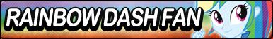 Human Rainbow Dash Fan button