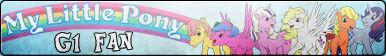 My little pony G1 Fan button