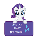 AMAAT -Art status -Rarity by Fluttershy626