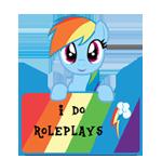 IDR -Art status -Rainbow Dash by Fluttershy626