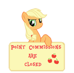 PCAC- Art Status -Applejack by SunsetMajka626