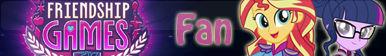 Friendship Games -Fan button