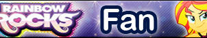 Rainbow Rocks -Fan button by MajkaShinoda626
