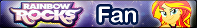 Rainbow Rocks -Fan button