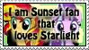Sunset and Starlight fan -stamp by MajkaShinoda626