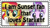 Sunset and Starlight fan -stamp by MajkaShinoda626
