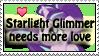 Starlight needs love -stamp