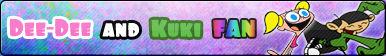 Dee-Dee and Kuki -Fan button