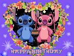 Happy Birthday from Stitch and Angel by MajkaShinoda626
