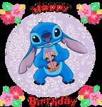 Happy Birthday from Stitch by MajkaShinoda626