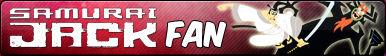 Samurai Jack -Fan button