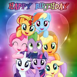 Mane 8 -Happy Birthday by MajkaShinoda626