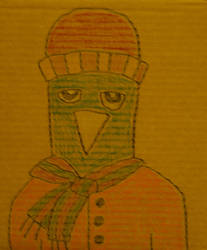 owlman 3: wintertime dad. by accostedllama