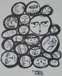 circle faces of dooooom. by accostedllama