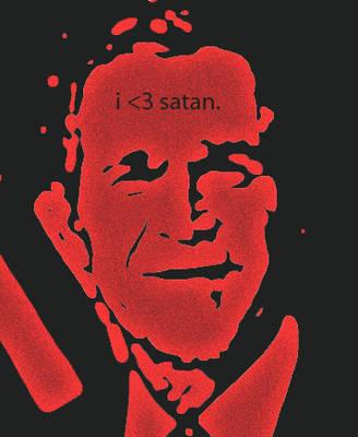 bush campaign for satan. by accostedllama