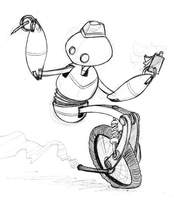 Robo Waiter by spsillustration