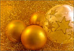 Golden Christmas Ornaments by PinkFireFly