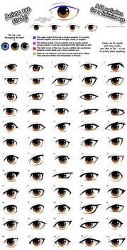 Anime eye styles