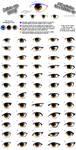Anime eye styles by PinkFireFly