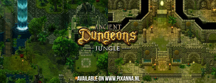 Ancient Dungeons: Jungle tileset