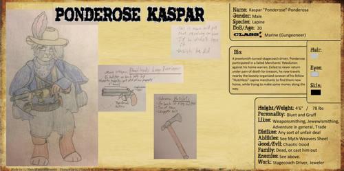 5e DnD: Kaspar Ponderosa by RelativeEquinox