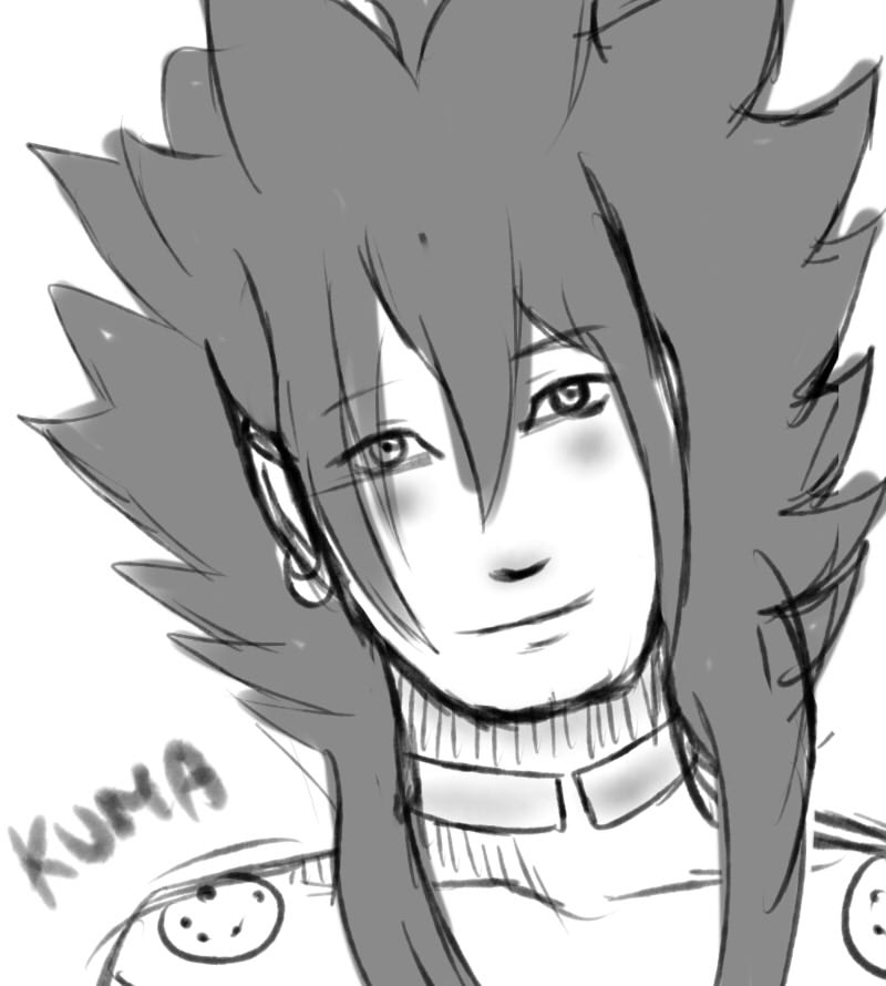 Sketch Commission Kuma by KiaCommission