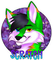 Scratch Fox Badge by EmiIee