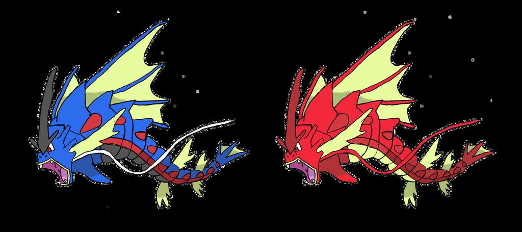 Mega Gyarados v.3 by TheNemetrix on DeviantArt Pokemon Mega Red Gyarados