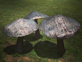 Metal Mushrooms by LadyEveLPhotography